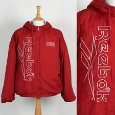 MENS VINTAGE 90'S REEBOK JACKET PADDED HOODED SPELL OUT STANFORD VOLLEYBALL M