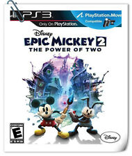PS3 Move EPIC MICKEY 2 THE POWER OF TWO Action Games Disney Interactive