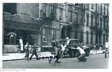 BROOKLYN NYC STICK BALL GAME STREET SCENE Photo c1940 Free Ship!