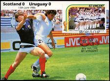 Football Maxicard 1986, Scotland V Uruguay, Handstamped #C26423