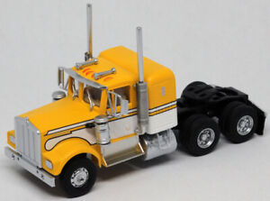 AthearnHO KW Kenworth Owner-Operator Truck Tractor Yellow/White ATH92657 CUSTOM