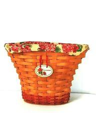 Longaberger Dresden Basket 2002 Collectible Geranium Singed Hand Woven Liner