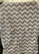 New listing Original Gray And White Infant Carseat Canopy thick velvet blanket
