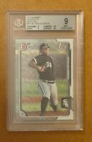 2015 Carlos Rodon 1st Bowman Prospects White Ice 1/1 BGS 9 MINT Superfractor RC