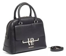 ~ NWT MOSCHINO BLACK SATCHEL /SHOULDER BAG WITH DUST BAG ~