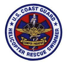 USCG COAST GUARD HELICOPTER RESCUE EMBROIDERED SWIMMER PATCH