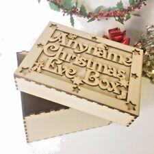 Personalised Vigilia di Natale di topper & scatola di taglio laser in legno MDF memoria F1B S321