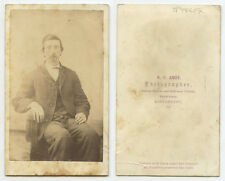 CDV STUDIO PORTRAIT OF A MAN W/ GOATEE FROM KITTANNING, PA, BY AMES