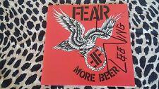 FEAR CD MORE BEER AUTOGRAPHED LEE VING SIGNED RARE PUNK KBD MISFITS J BELUSHI