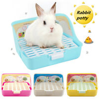 Rectangle Pet Cavy Rabbit Pee Toilet Potty Small Animal Hamster Litter Tray