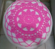 Handmade Crochet Toilet Lid/Seat Cover Pink 2#