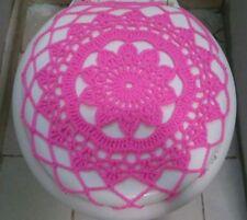 Handmade Crochet Toilet Lid/Seat Cover Pink 2#