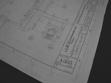 Disney World Mk Haunted Mansion Elevation Blueprints- 4 sheets-8 elevations 1970