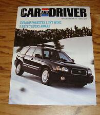 2004 Subaru Forester 2.5XT Best Truck Winner Car and Driver Sales Brochure 04
