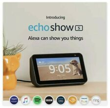 Amazon Echo Show 5 (1st Gen.) Smart Display with Alexa Black -UK Brand NEW Fd