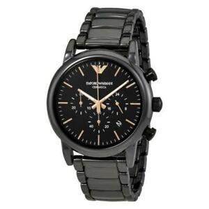 Emporio Armani AR1509 Luigi Ceramic Black Dial Chronograph Men's Watch