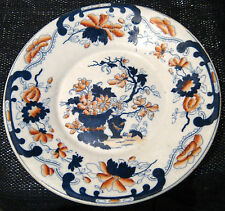 Unmarked vintage bone china plate with a great retro look.  7 3/4 ins diameter