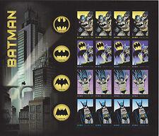 BATMAN  STAMP SHEET -- USA #4928-#4931 FOREVER 2014 75TH ANNIVERSARY