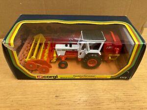 No1112 Corgi toys David Brown & JF combine harvester tractor Traktor boxed