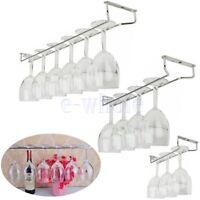 Wine Glass Hanger Rack Holder Shelf Under Cabinet Stemware Organizer 1 Row HI
