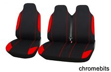 2+1 RED SOFT & COMFORT FABRIC SEAT COVERS FOR FORD TRANSIT TRANSIT CUSTOM VAN