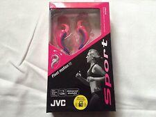 Jvc etx30-p sport in ear Headphones earphones pink waterproof washable bnib