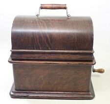 Antique Oak Edison Standard Cylinder Player Phonograph