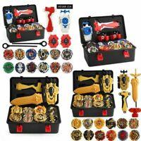 12PCS Beyblade Burst Customize Set w/ LR Launcher Storage Box Case Birthday Gift