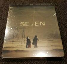 Se7En Steelbook Blu-ray Region-B Locked European Import Seven Fincher Pitt New!