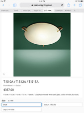 """DISPLAY Estiluz Flushmount Ceiling Fixture/Wall Sconce w/ Frosted Glass - 8""""W"""