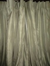 J.C. PENNEY SUPREME PINCH PLEATED SAGE GREEN (PAIR) PANELS 48 X 93 EACH