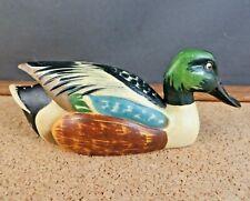 Anri Wildlife Collection Mini Shoveler Duck Figurine Decoy Log Cabin Decor #5