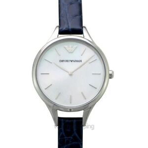 EMPORIO ARMANI  AR11090 White Dial Lady's Watch Genuine
