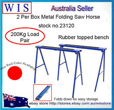 2/PK Saw Horses Trestle Steel Foldable Work Bench Stand Support Legs,200Kg Load