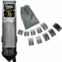 Oster Classic 76 Driftwood Limited Edition Hair Clipper +10 PC Comb Set