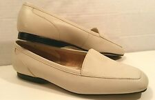 Capezio Jenny Light Ivory Natural Leather Slippers Loafers Women's 5 M EUC
