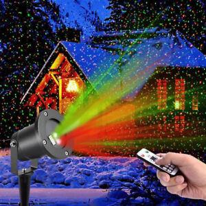 RGB LED Moving Laser Projector Lamp Landscape Light Xmas Halloween IndoorOutdoor