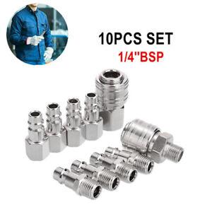 10Pcs Euro 1/4''BSP Air Line Fitting Hose Compressor Quick Release Connector IA2