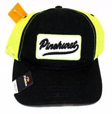 New Juniors Pukka Black & Neon Yellow Trucker Mesh Back Golf Hat PINEHURST nwt