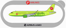 STICKER AUTOCOLLANT AIRBUS A320 S7 AIRLINES SIBIR  v3 with sharklets