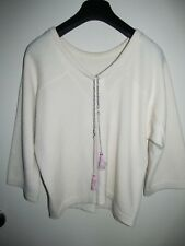 CHANEL 3/4 Sleeve Cashmere SWEATER With Tassels Size 38 Authentic