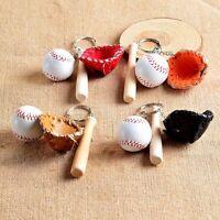 Car Chain Ring For Gift Charm Pendant Keyring Keychains Softball Baseball