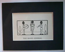 Print Brave General Wooden Soldiers Christmas 1930s Bookplate 8x10 Matted Cutie