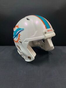 MIAMI DOLPHINS GAME USED WHITE AUTHENTIC NFL FULL SIZE HELMET SZ- LARGE 9.99!