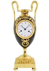PENDULE VASE. Kaminuhr Empire clock bronze horloge antique uhren cartel