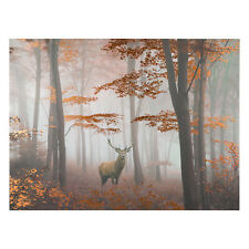 Stunning Rustic Copper Foiled Stag Canvas Wall Art Wall Hanging 80cm X 60cm