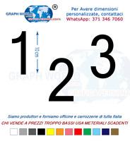 Numeri Adesivi auto/moto racing stickers numero adesivo MicrosoftSans