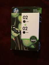 HP 02 2-pack Original Black Ink Cartridge-PhotoSmart 3110 3210 3310xi 8250 C6188