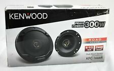Kenwood KFC-1666R - Road Series 6.5 2-Way 300 WATT Car Speakers Pair - Black