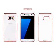 Goospery Metallic Bumper Clear Case silicone gel Cover for iPhone X Galaxy S9 LG